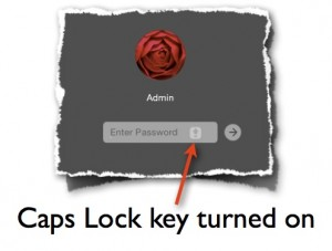 Caps Lock key on